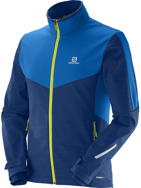 Salomon M's Pulse SS Jacket Midnight Blue / Union Blue
